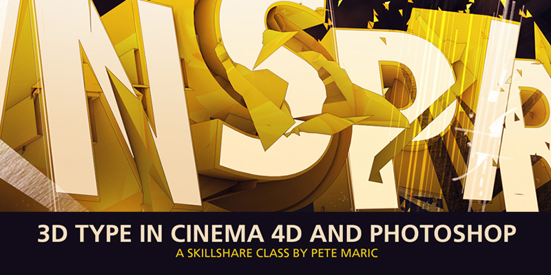 3D Type in Cinema 4D and Photoshop