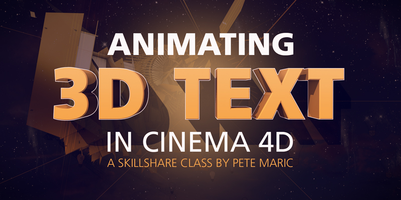 Animating 3D Text in Cinema 4D