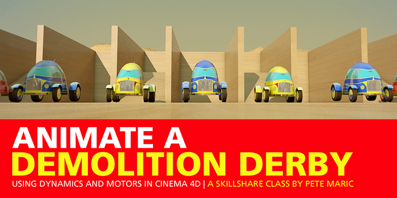 Demolition Derby Using Motors in Cinema 4D