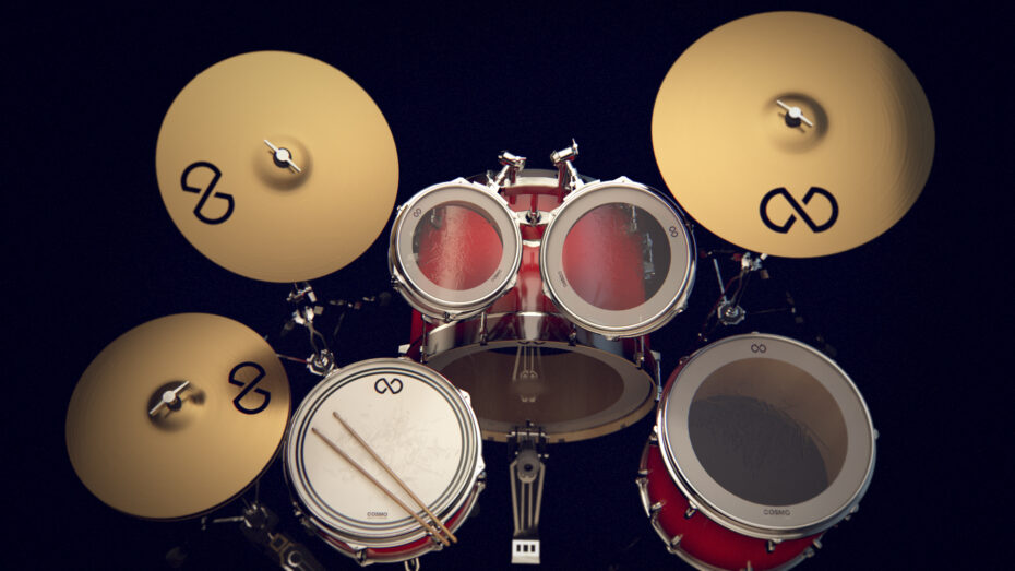 drums, product visualization