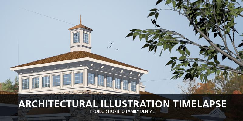 Architectural Illustration Timelapse